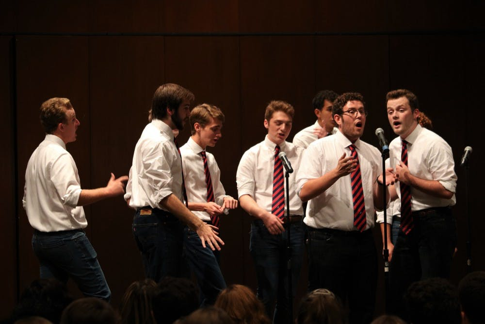 A cappella preview concert debuted both established and new groups