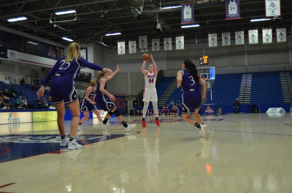 AU women's basketball wins share of Patriot League title