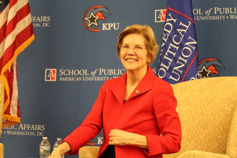 Elizabeth Warren outlines foreign policy positions during speech at AU
