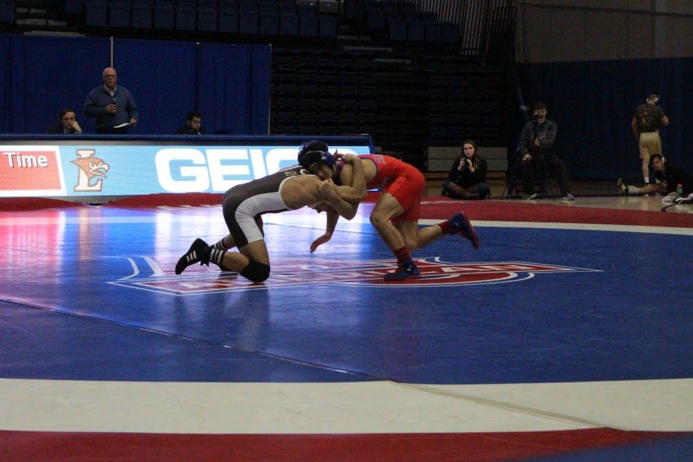 Lehigh overpowers AU in wrestling dual on Alumni Night