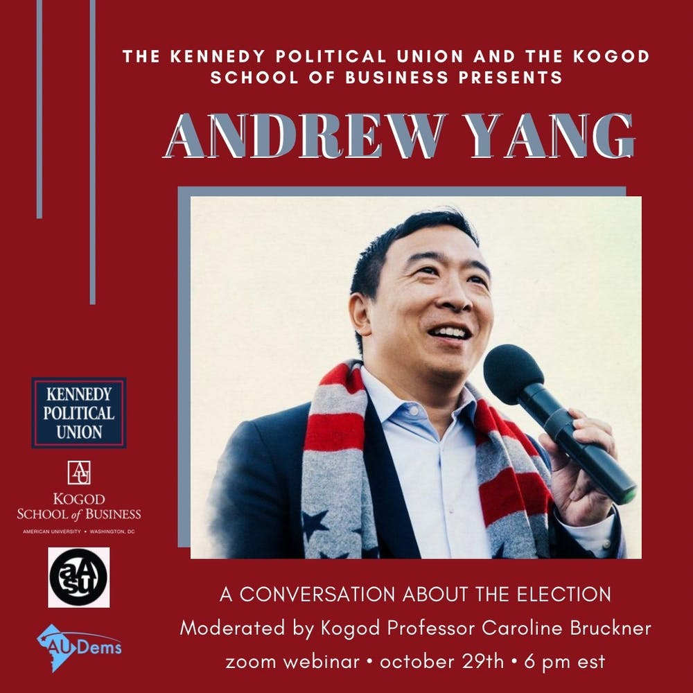 Former presidential candidate Andrew Yang to speak at virtual event on Oct. 29
