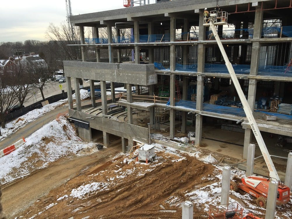 Tenley law school campus construction continues on schedule