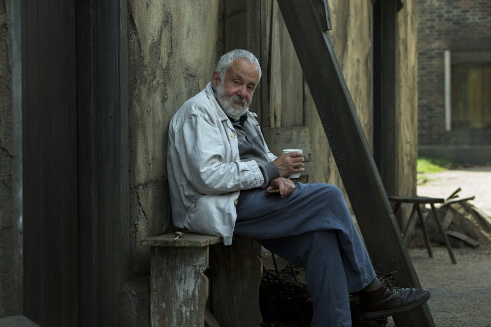 "Director Mike Leigh discusses his latest historical drama ""Peterloo"""