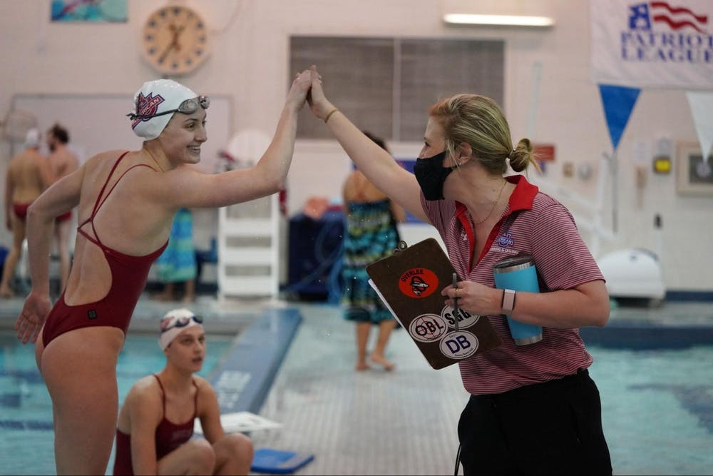 New swim coach Garland Bartlett is always ready to dive in headfirst