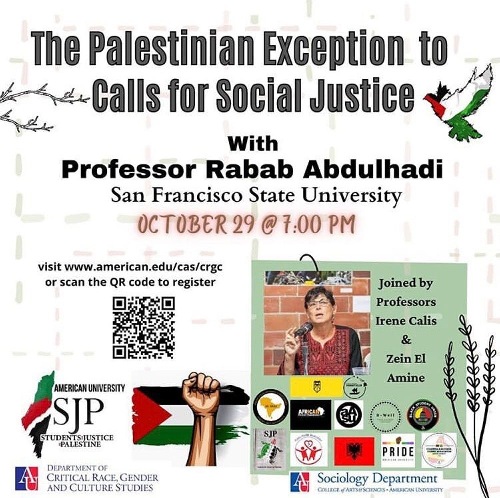Arab and Muslim studies professor discusses Palestinian human rights at AU event