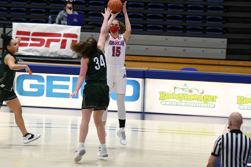 Far from home, women's basketball player Karla Vreš just keeps scoring