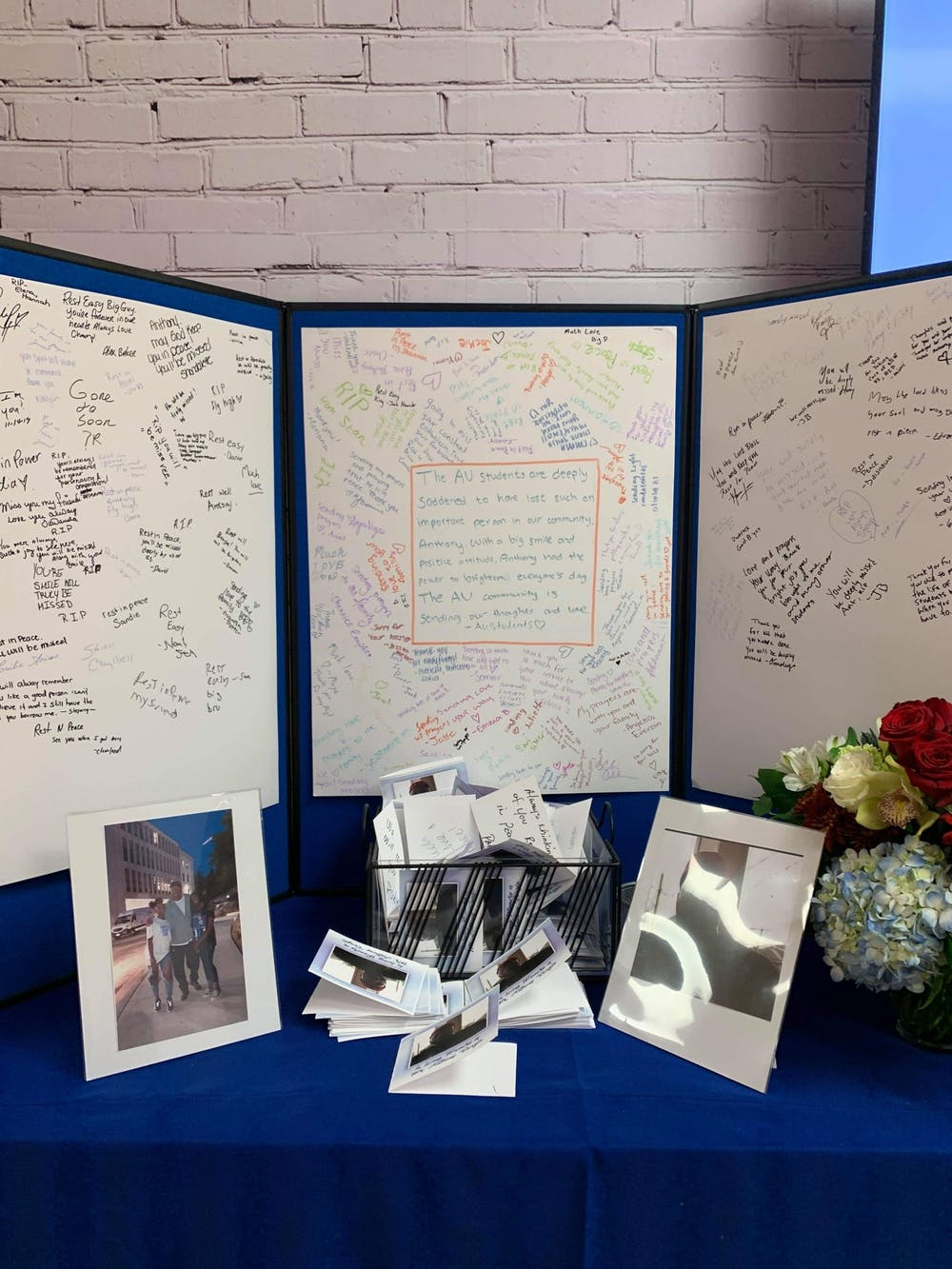 Students honor the memory of Terrace Dining Room staff member