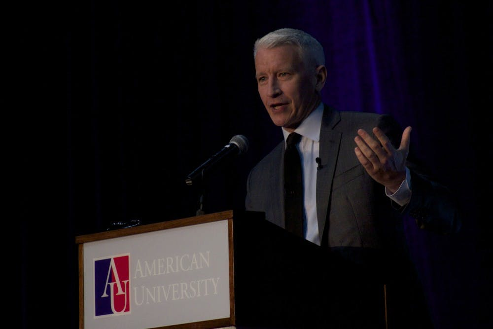 Anderson Cooper accepts AU award, unsure if he is a 'wonk'
