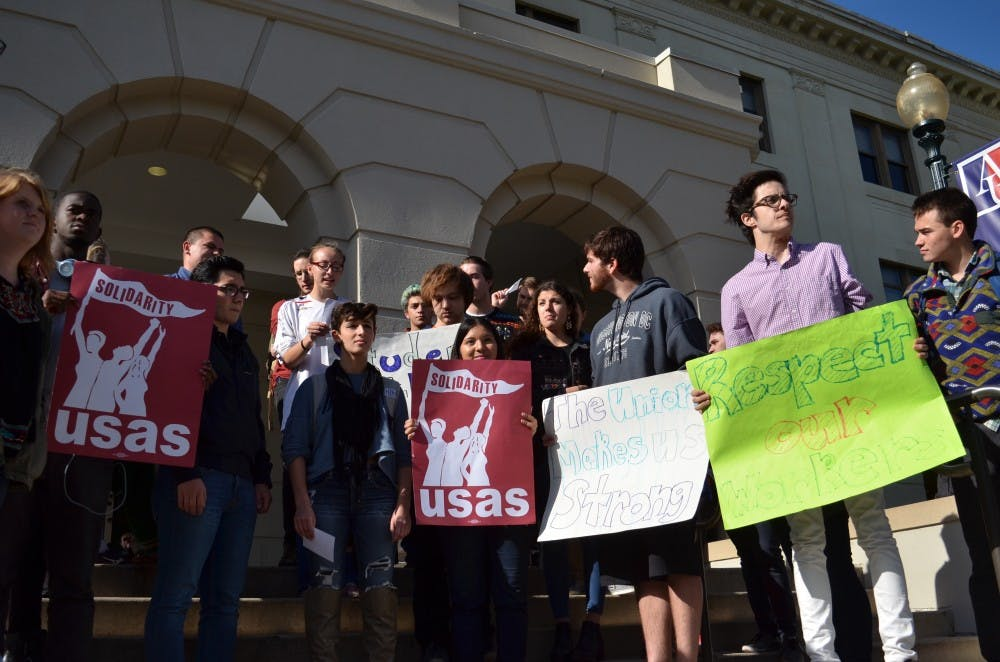 AU worker's rights activists announce TDR worker's hours restored after cuts earlier this semester