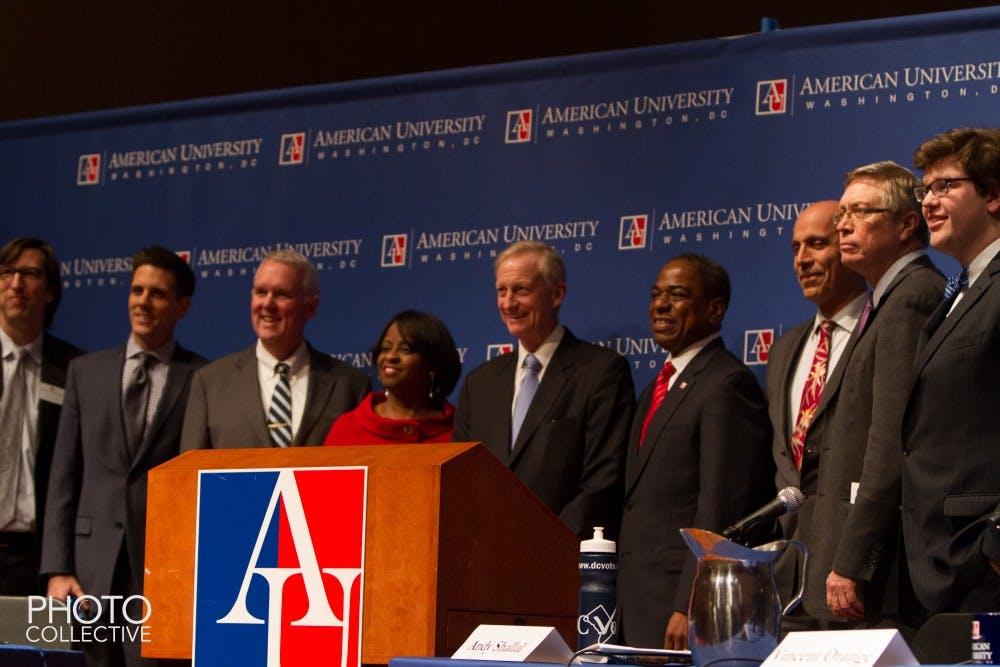 Democratic DC mayoral candidates debate at AU