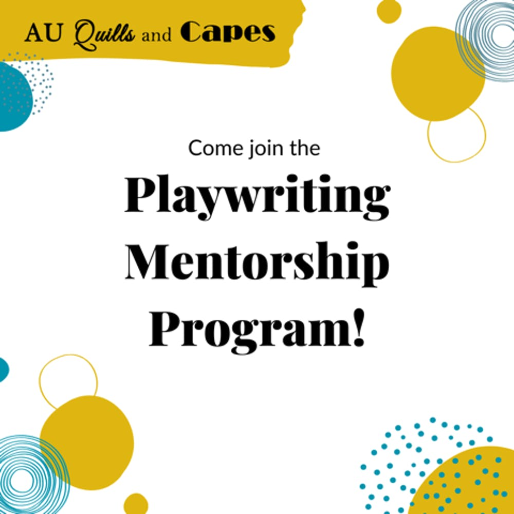 AU Quills and Capes student mentorship program helps students work on plays