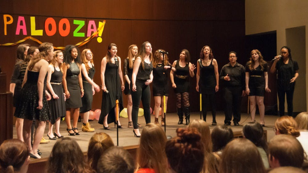 AU a cappella groups unite for Acapalooza 2014 in Kay Spiritual Life Center