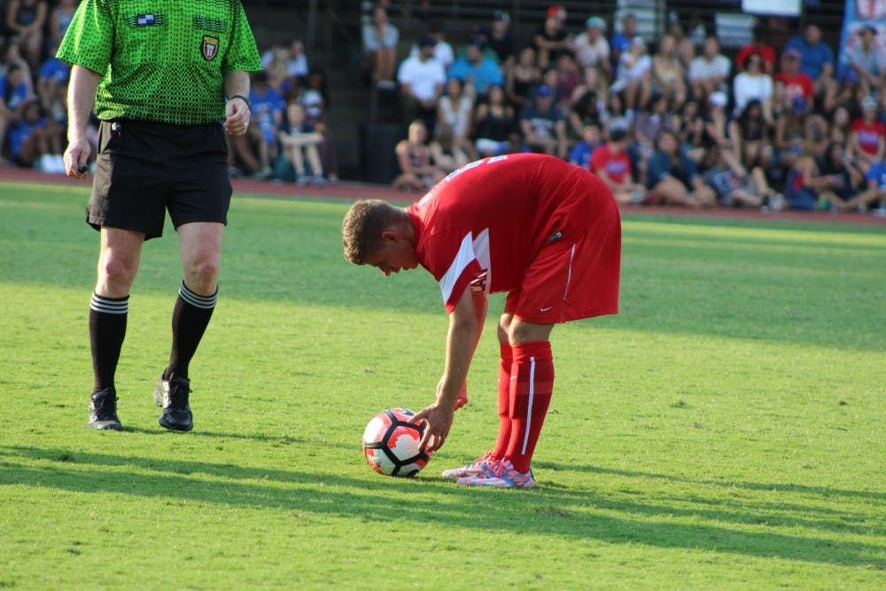 Men's soccer advances to Patriot League final with double overtime win over Bucknell