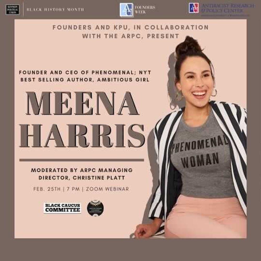 Meena Harris, entrepreneur and author, to speak at virtual Founders Week event