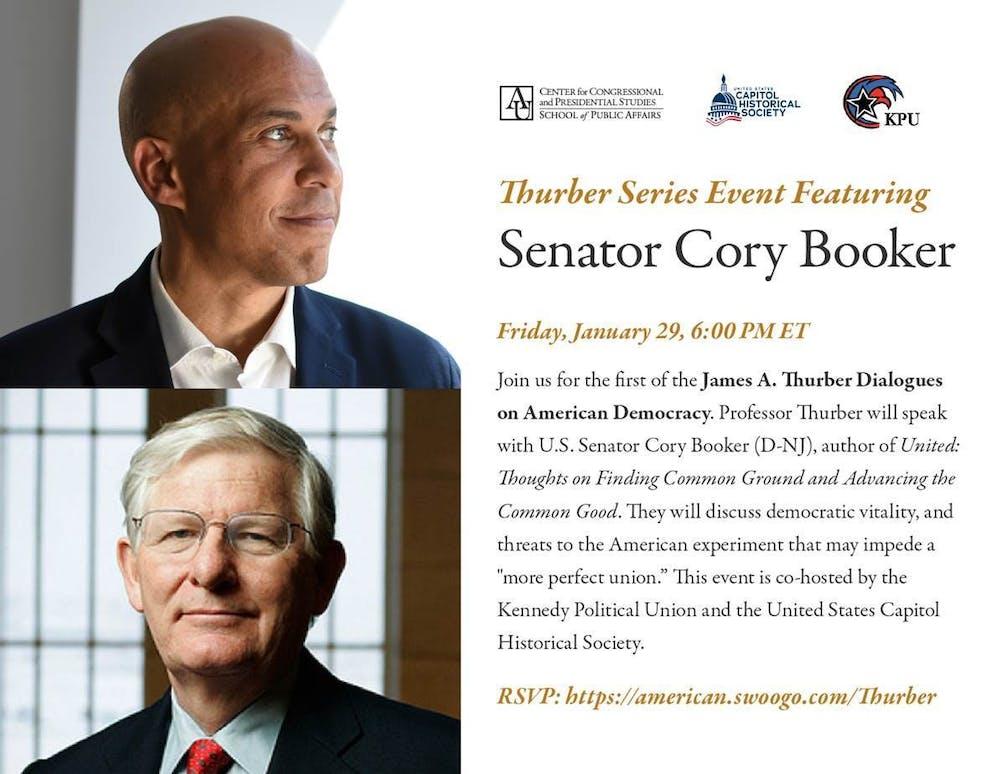 Sen. Cory Booker to speak at Jan. 29 virtual event