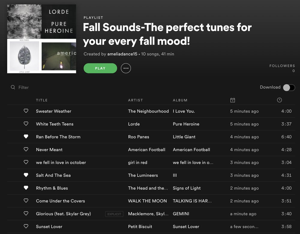 A nostalgic playlist of 2019 fall favorites
