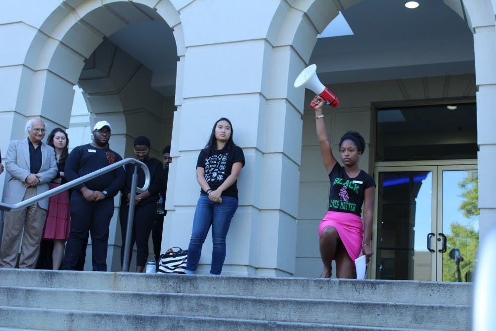 'Enough is Enough' rally calls for unity against hate following Confederate flag incident