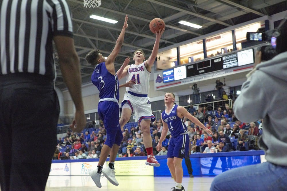 AU men's basketball breezes past Holy Cross to keep Eagles' win streak alive