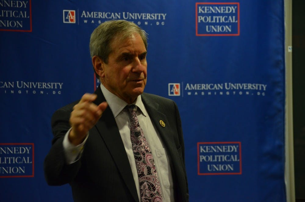U.S. Rep. John Yarmuth talks to students about the current state of politics