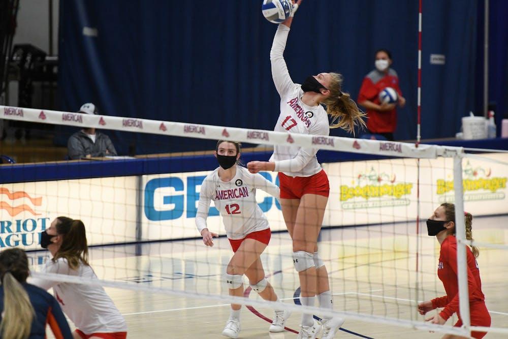 Bucknell stuns AU volleyball, split series to start season