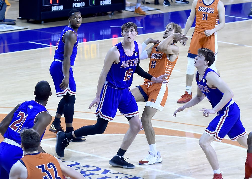 Men's basketball sweeps Bucknell, clinches fifth seed in PL Tournament