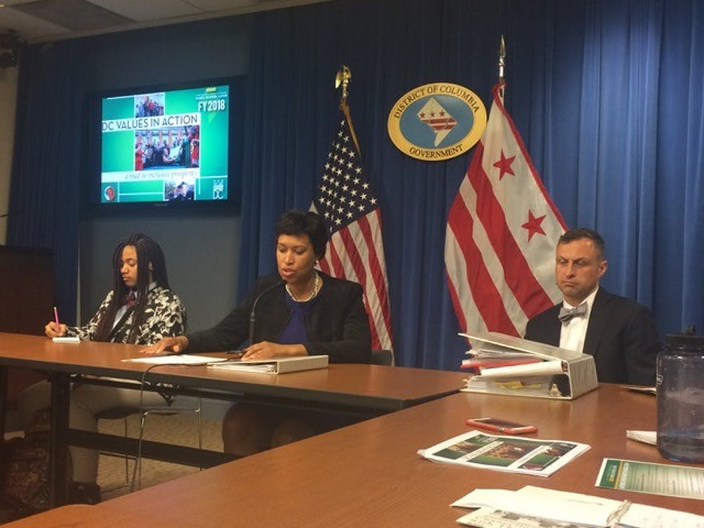 Mayor Bowser shares budget plans with student journalists