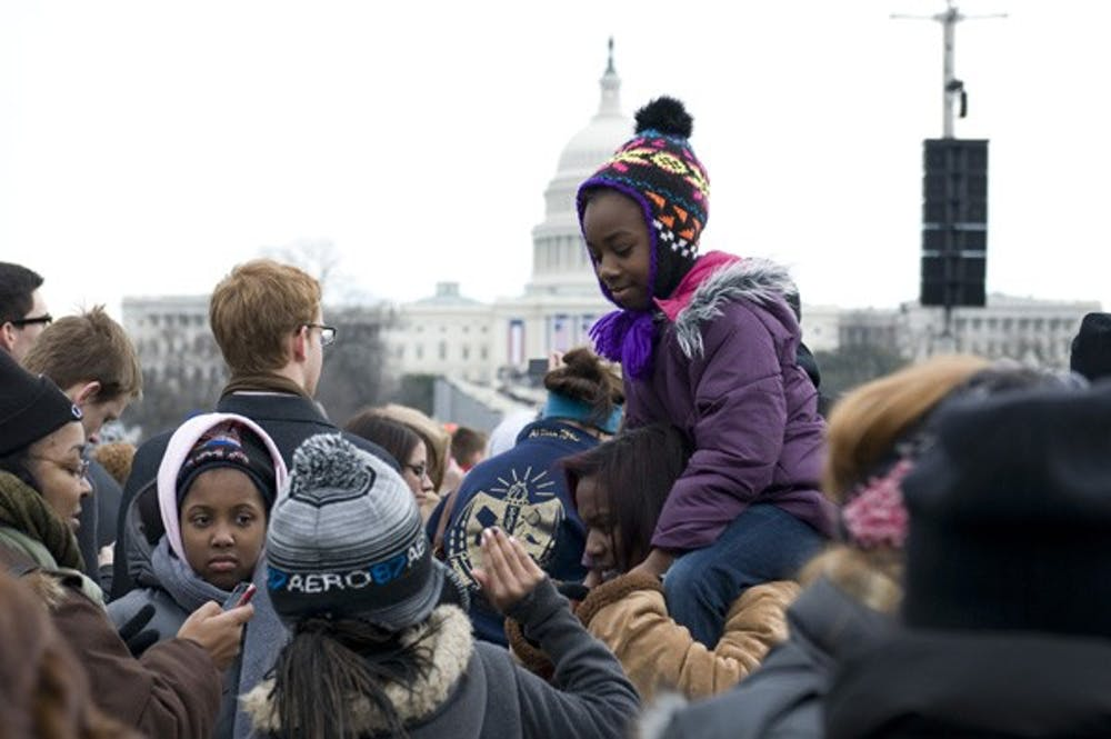 Students experience inauguration first-hand
