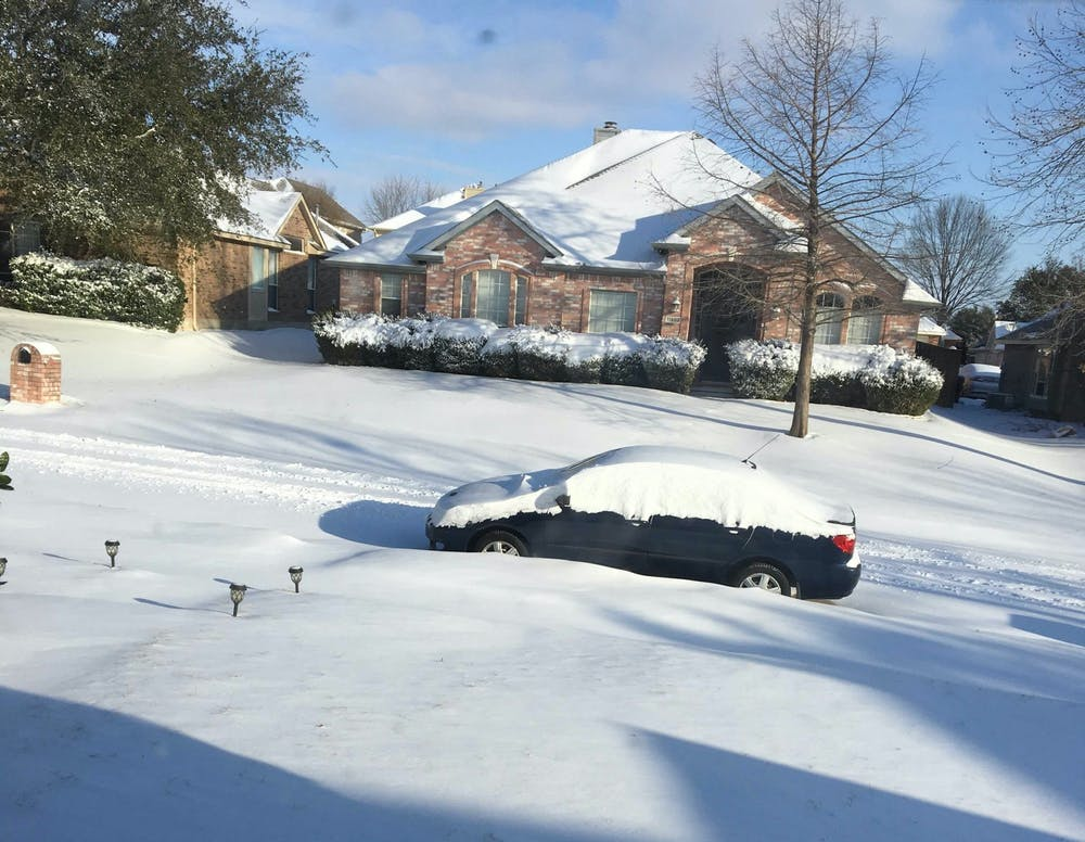 Up close and from afar, AU students from Texas face effects of winter storm
