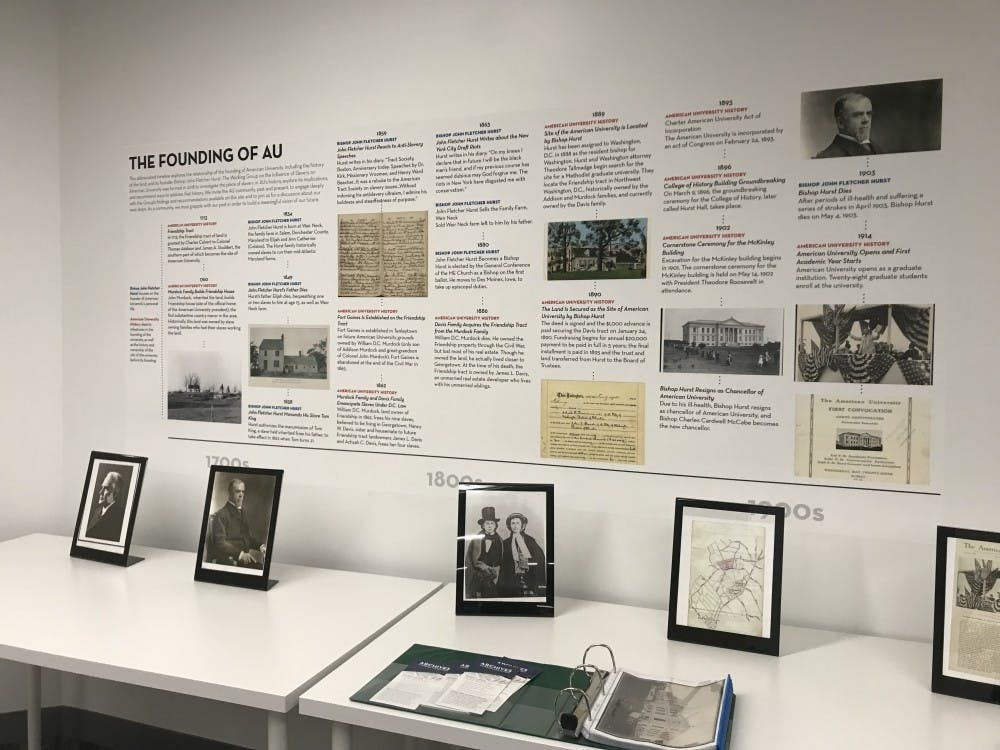 Exhibit in Bender Library displays AU's history of slavery