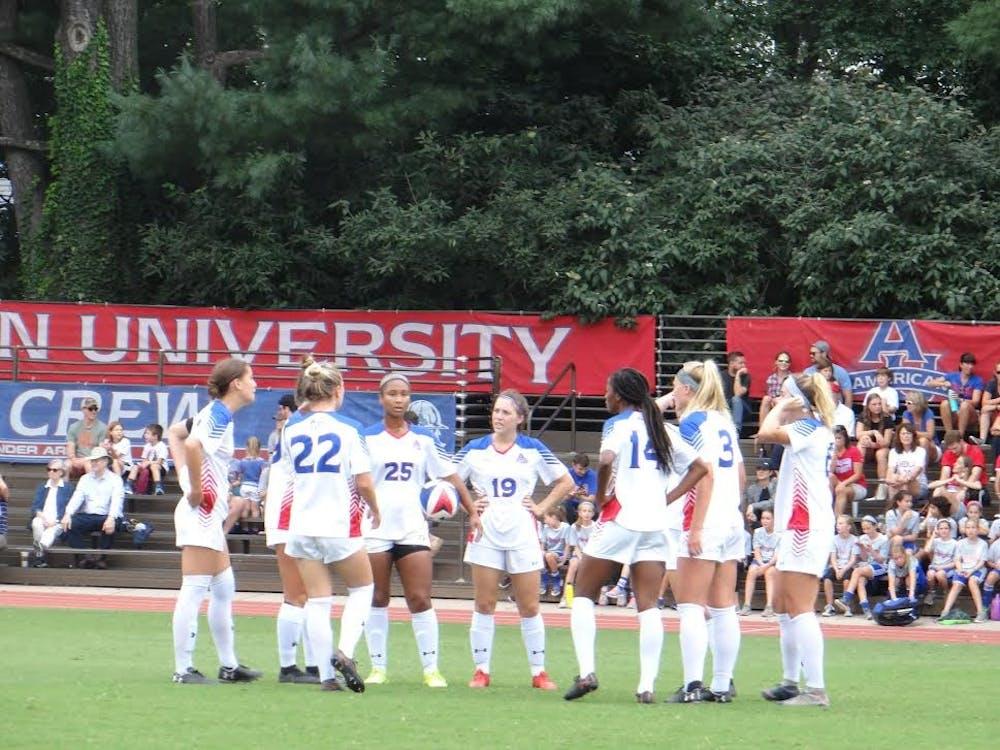 Strong second half propels women's soccer past Lafayette