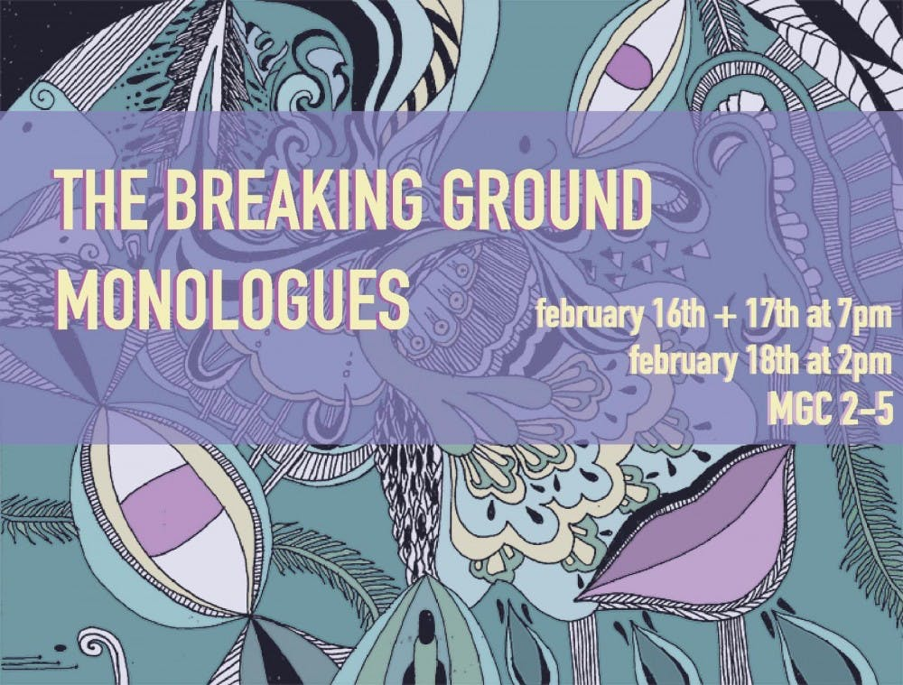 Women's Initiative Breaking Ground Monologues running this weekend