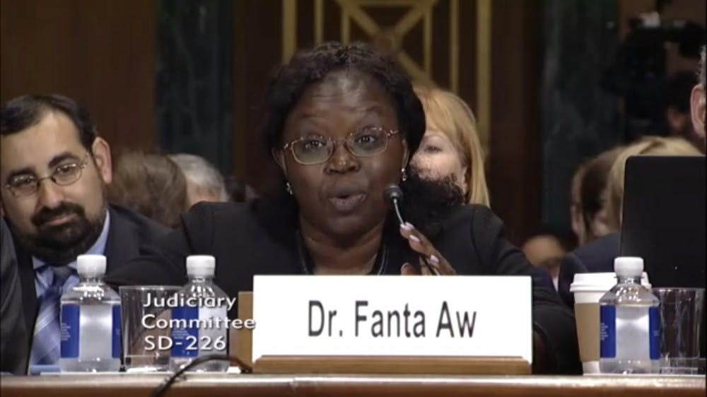 Fanta Aw testifies at Senate hearing on campus free speech
