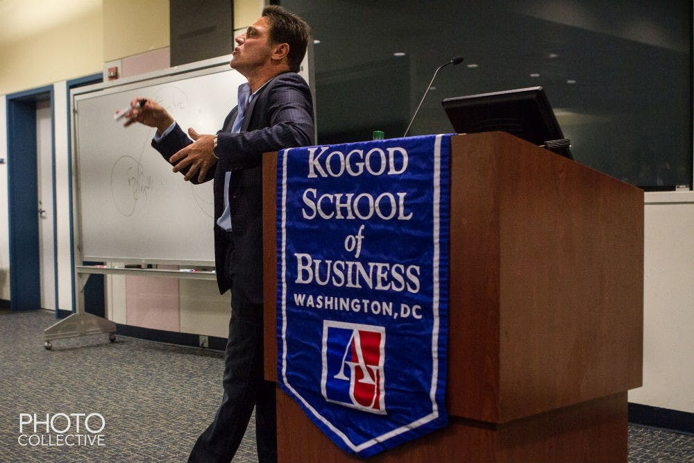 """Former """"Wolf of Wall Street"""" offers AU students candid advice"""
