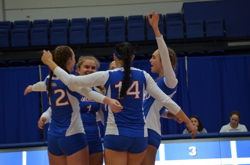 Volleyball opens Patriot League play with victory