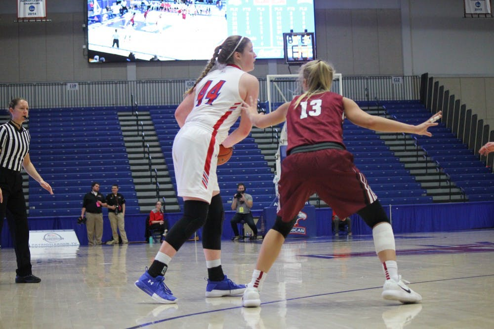 Women's basketball crushes Lafayette in Patriot League quarterfinal