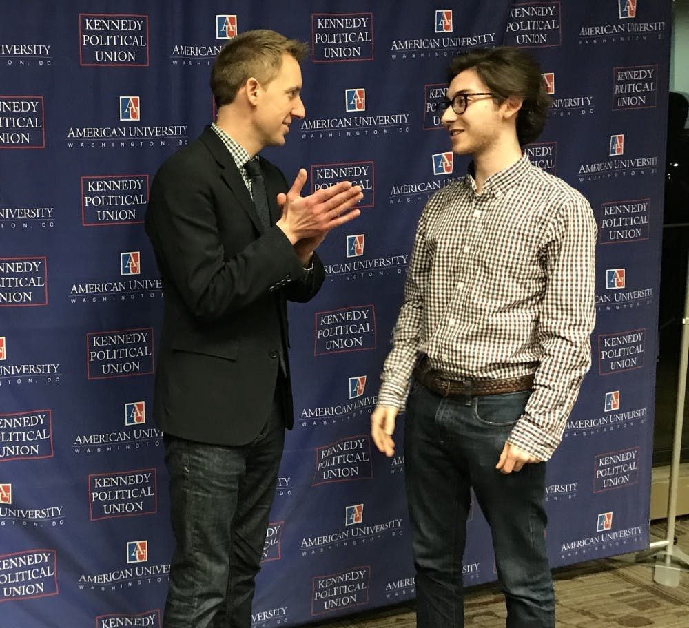 Politician and alum Jason Kander advises students on how to get the most out of AU