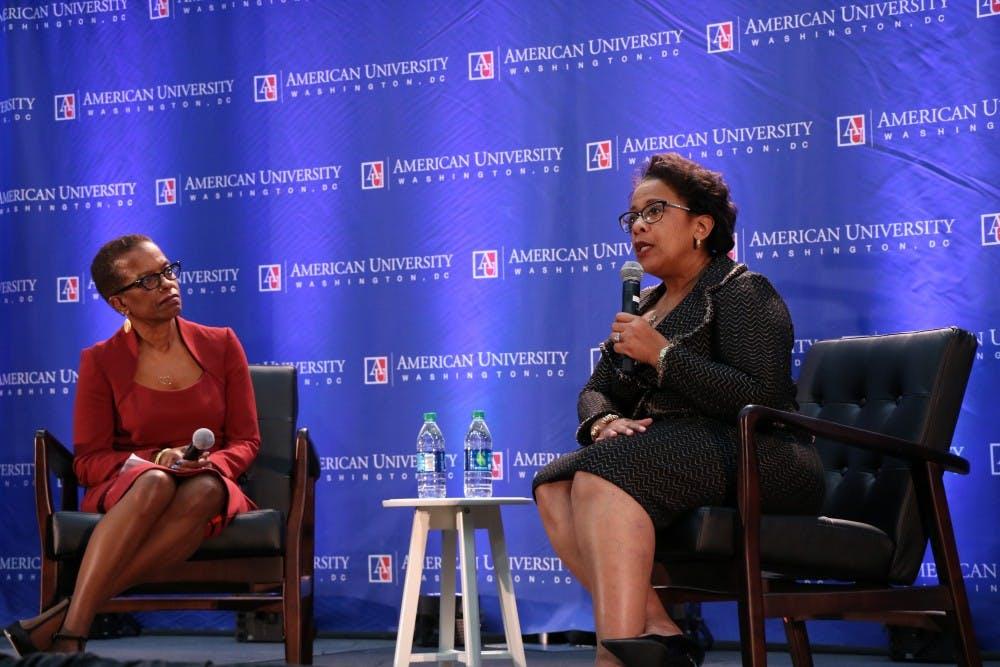 Former attorney general Loretta Lynch tells AU audience that 'truth is under assault'