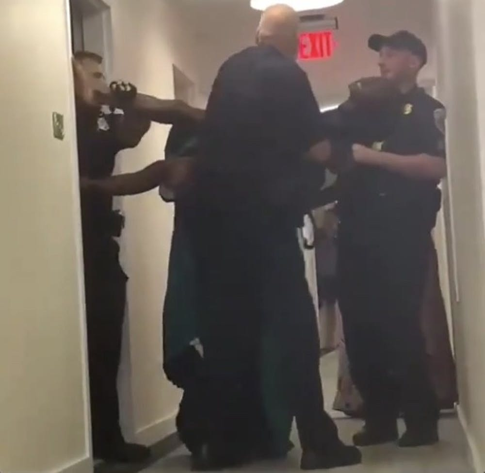 Video surfaces online of student being removed from apartment by AUPD