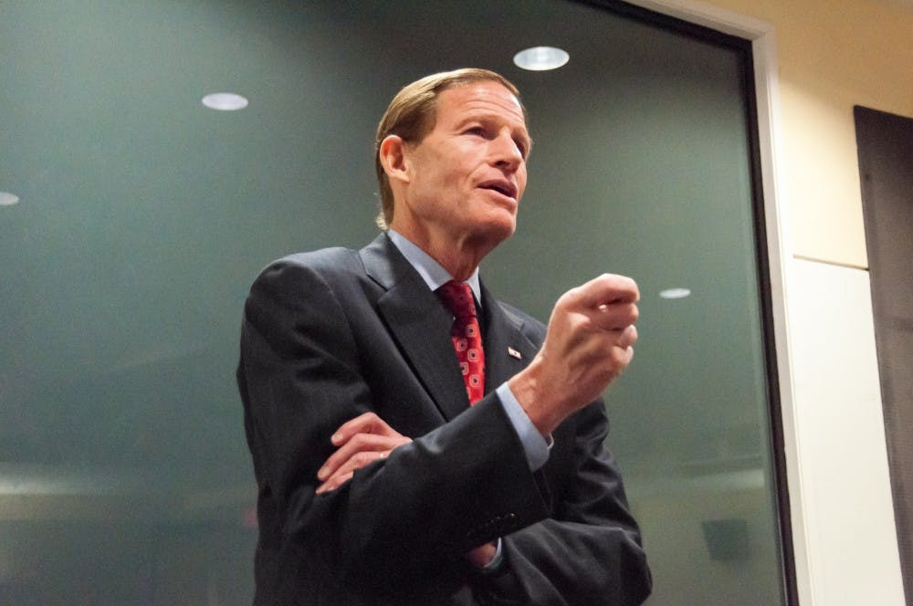 Sen. Richard Blumenthal touts the importance of strong laws on March 31