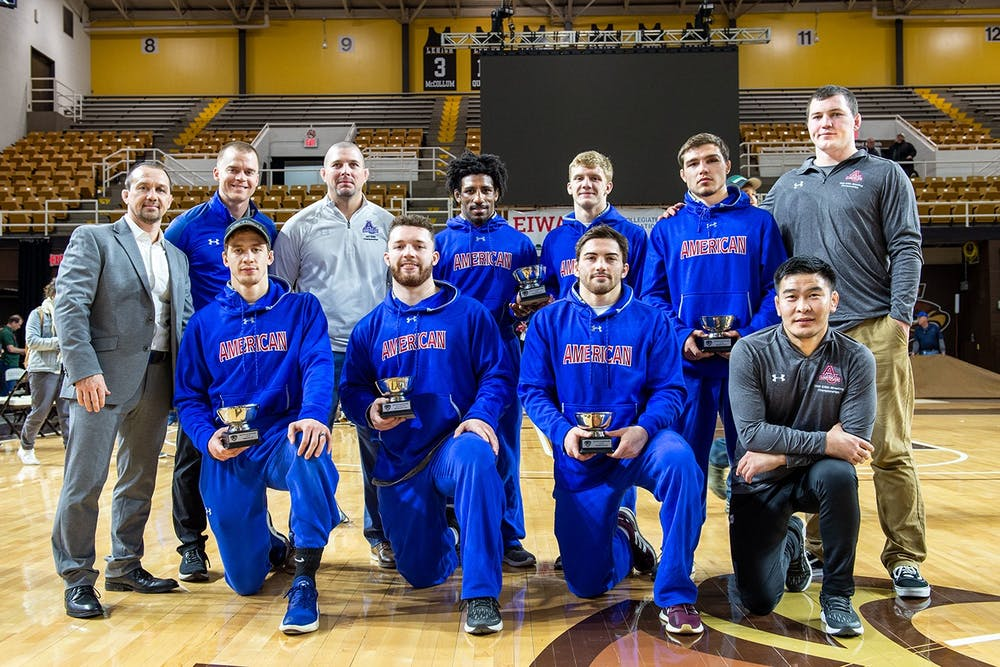 AU wrestling finishes 9th in conference tournament