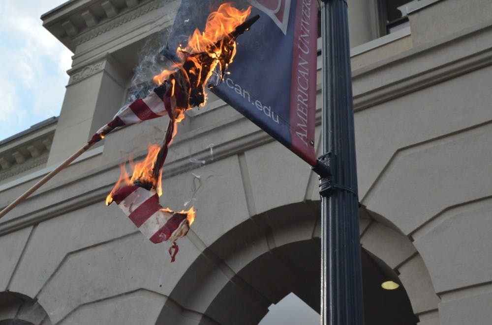 Kerwin condemns flag burning on campus