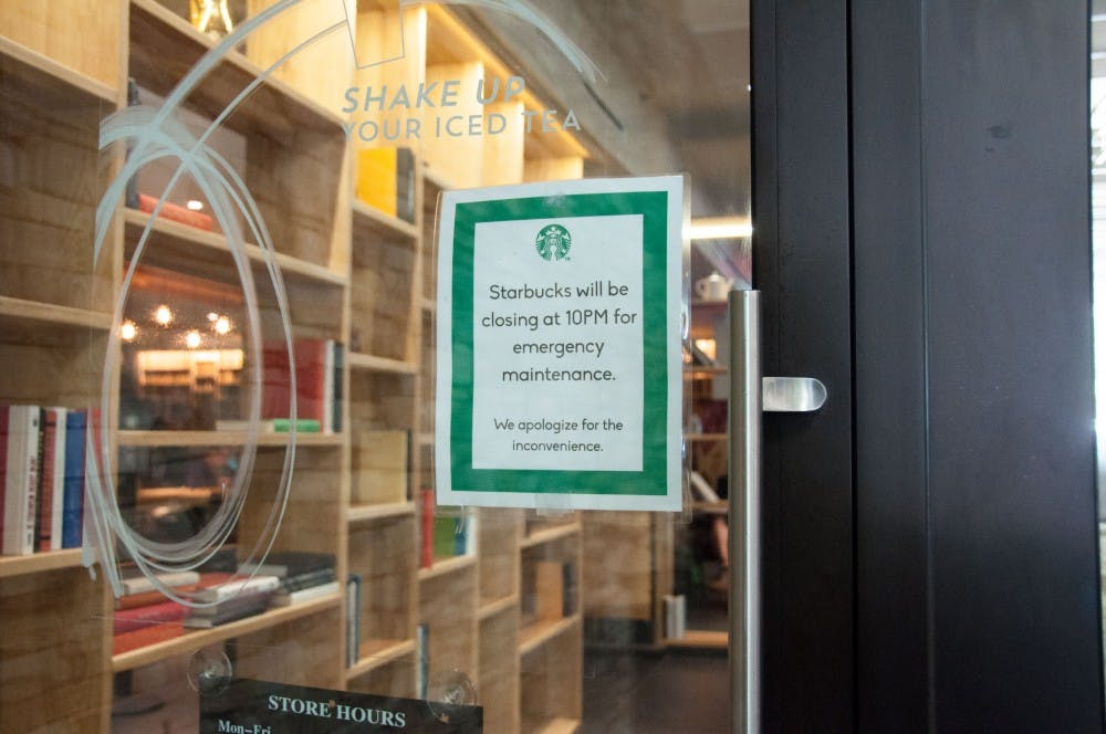 Eagle's Nest and Starbucks will close at 10 p.m.