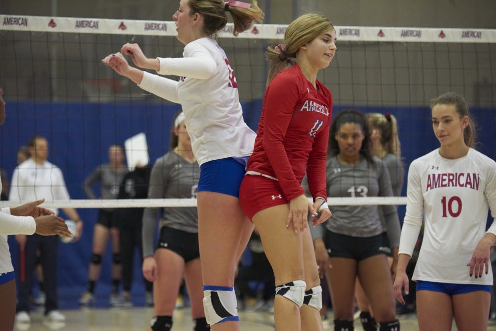 AU Volleyball bests Bucknell on All-American Weekend