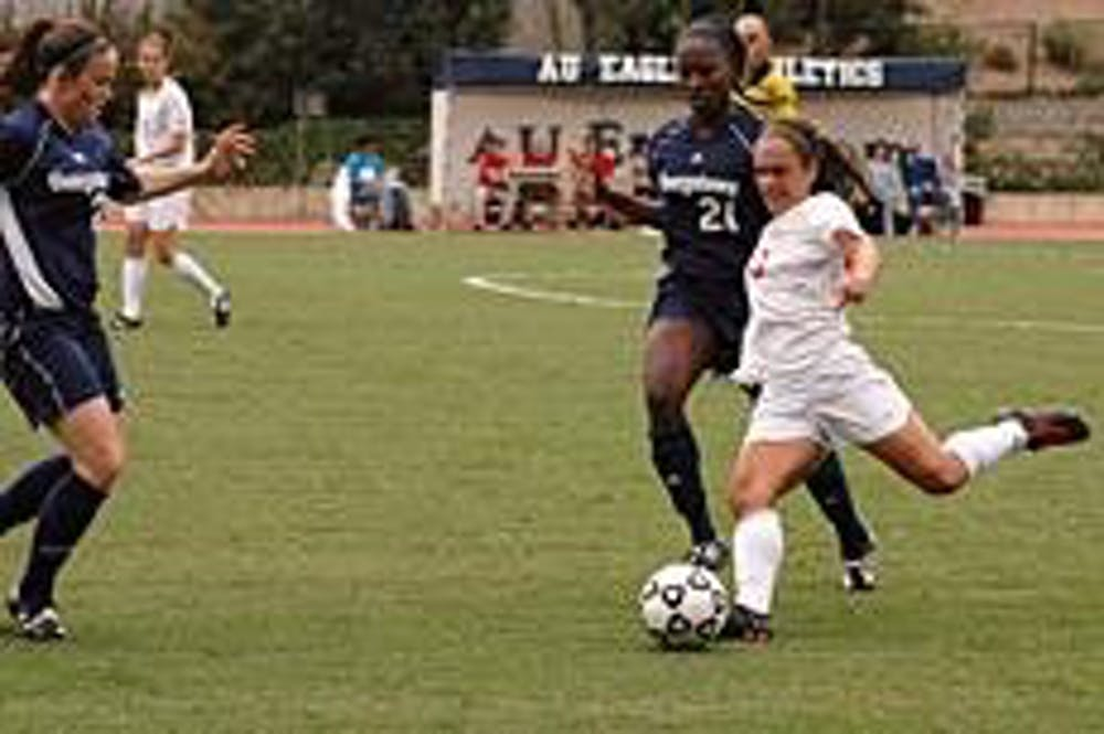 Women's soccer shut out for second straight time; dropped by Georgetown 2-0