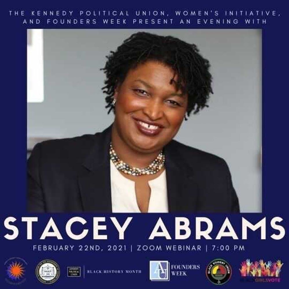 Stacey Abrams, famed voting rights activist, to speak during Founders Week