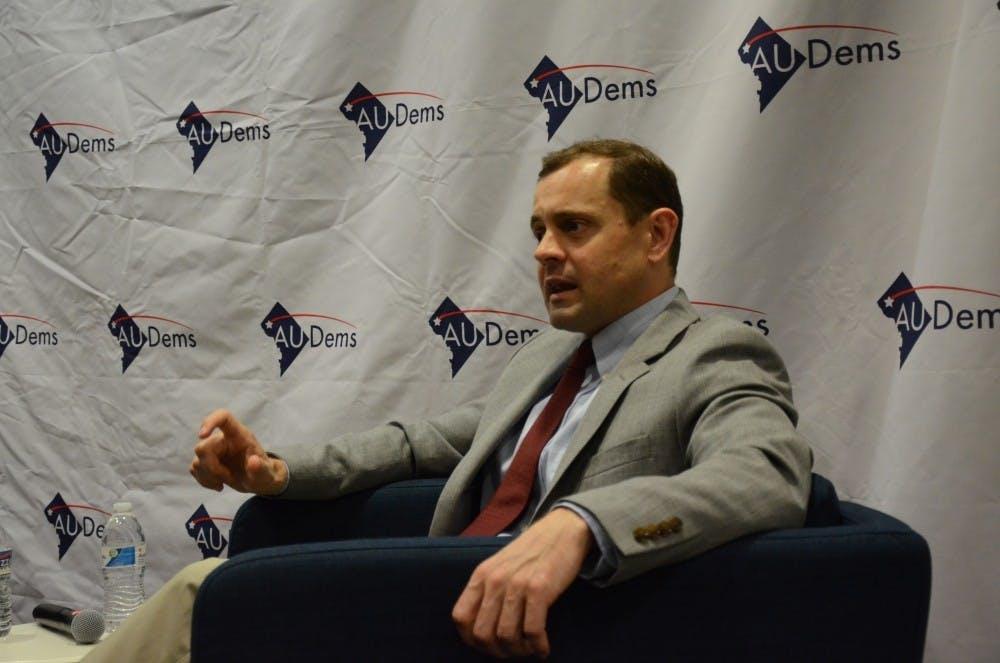 Virginia gubernatorial candidate speaks at AU