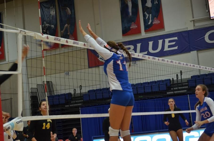 AU volleyball clinches regular season Patriot League title with weekend sweeps