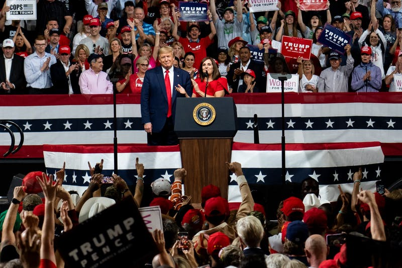 Trump Rally Inside