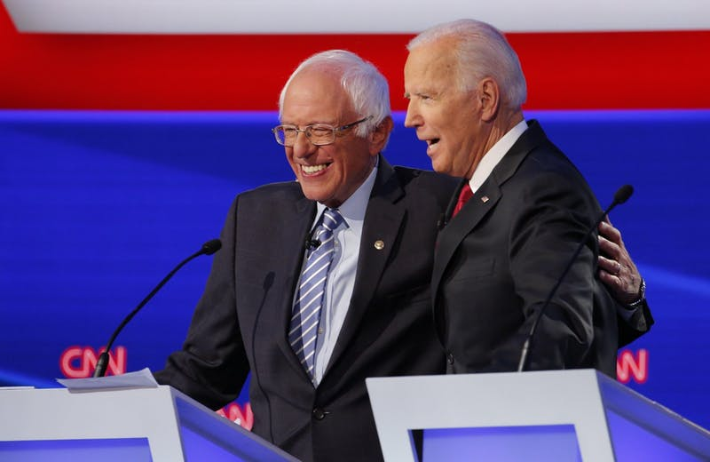 20191015 Sanders Biden Democratic debate