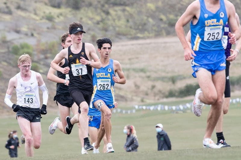Vincent Mauri competes in the 2020 Pac-12 Cross Country Championships